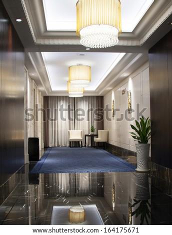 Luxury lobby - stock photo