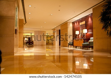 Luxury lobby for five stars hotel - stock photo