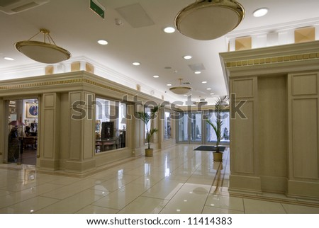 luxury lobby interior photo - stock photo