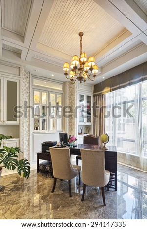 luxury lobby room interior and decoration