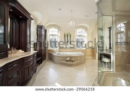 Luxury master bath - stock photo