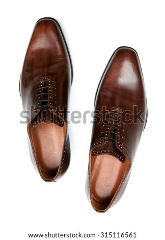 luxury men shoes  - stock photo