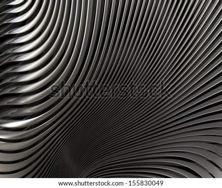 Luxury metallic curves concept. Abstract stylish brushed metal reflections - stock photo