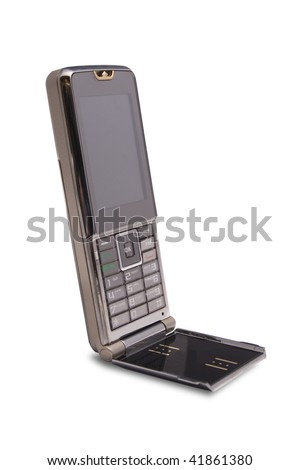 Luxury mobile phone on th white background