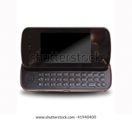 Luxury mobile phone on th white background - stock photo