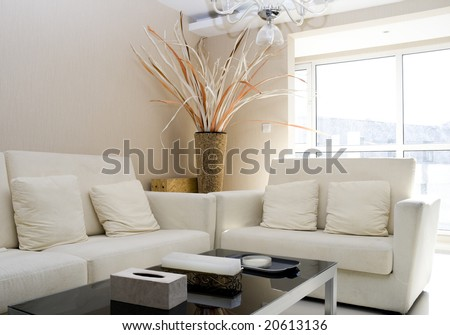 Luxury modern living room with nice sofa - stock photo