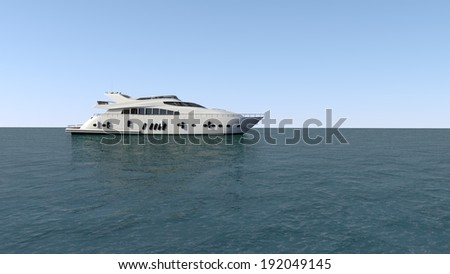 luxury motor yacht in the ocean