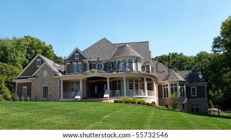 Luxury Multilevel Home - stock photo