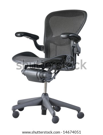 Luxury office chair isolated on white background - stock photo