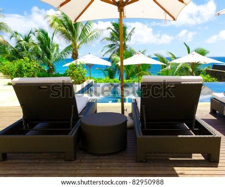 Luxury Palms Hotel - stock photo