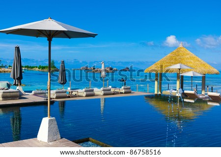 Luxury Palms Hotel - stock photo