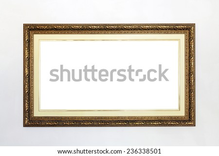 Luxury picture frame - stock photo