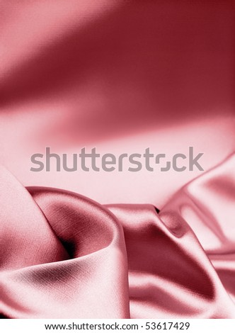 luxury pink silk background with place for text - stock photo