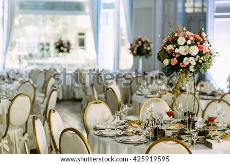 Luxury place for the amazing wedding party - stock photo