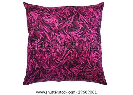 Luxury purple pillow - stock photo