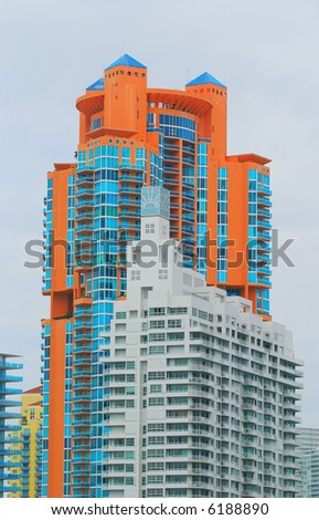 Luxury real estate condos - stock photo