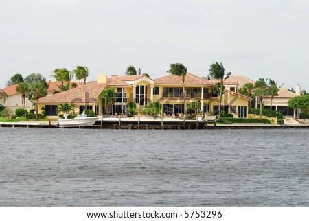 Luxury real estate in Florida - stock photo