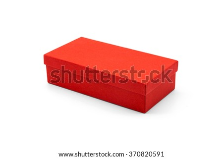 Luxury red box. Red box. Blank box. Empty box. Box isolated. Product box. Red packaging. Red package. Gift box. Bonus box. Chinese bonus box. Mock up box. Surprise box. Valentine gift. Clipping path. - stock photo
