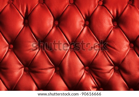 luxury red leather texture - stock photo