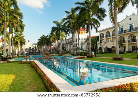 Luxury resort in Mexico - stock photo