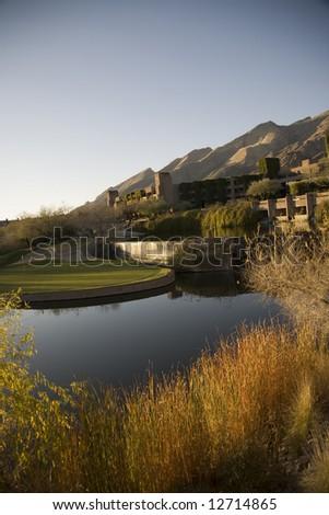 Luxury resort in Tucson Arizona - stock photo