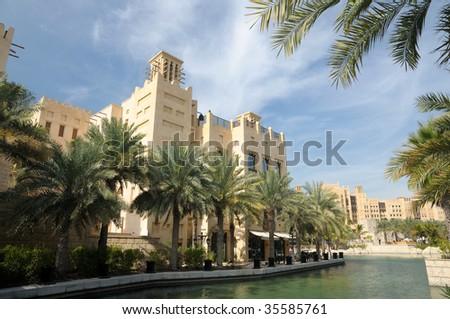 Luxury Resort Madinat Jumeirah in Dubai, United Arab Emirates - stock photo