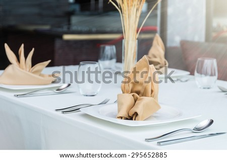 Luxury restaurant set - stock photo