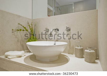 luxury round handwash basin with decoration