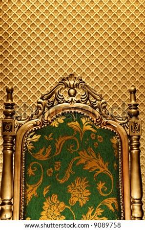 Luxury royal chair - stock photo