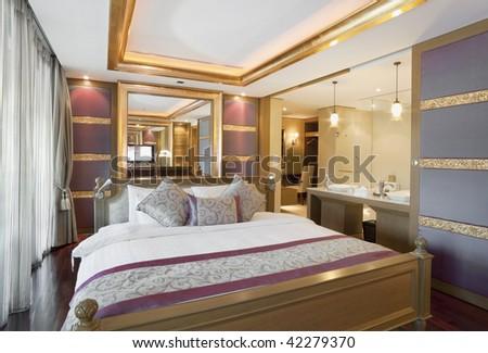 luxury royal suite room interior - stock photo