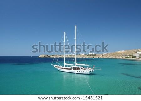 Luxury Sailing Vessel - stock photo