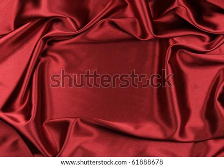 Luxury satin with frame - stock photo