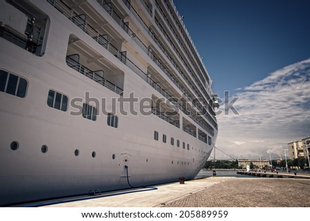 Luxury ship in the port of Zadar