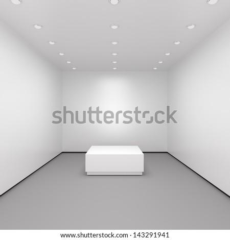 Luxury Shop Interior - 3d illustration - stock photo