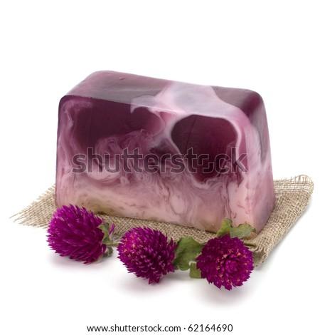 Luxury soap isolated on white background - stock photo