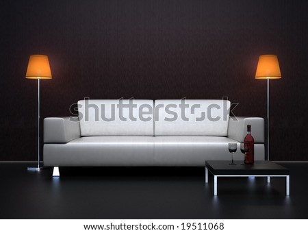 luxury sofa - stock photo