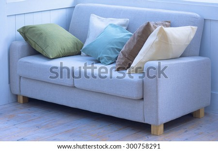 luxury sofa in living room - stock photo