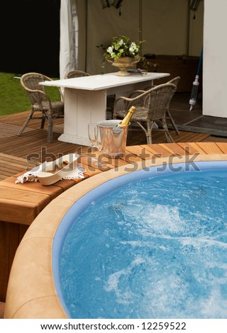 luxury spa bath - stock photo