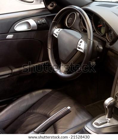 Luxury Sports Car Interior - stock photo