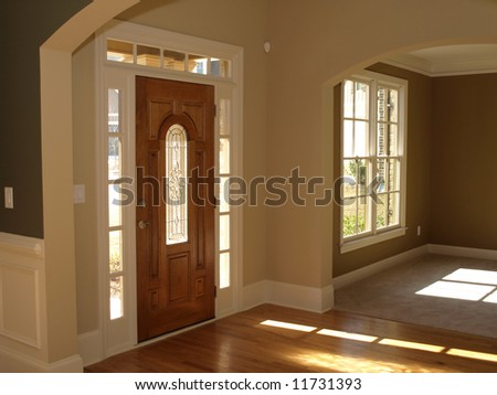 Luxury Stained Glass Door with Arch - stock photo