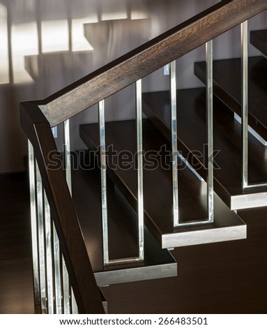 Luxury staircase in modern interior - stock photo