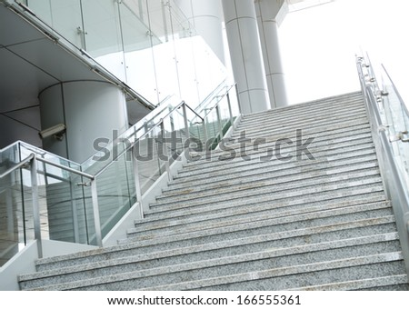 luxury stairs of modern  building. - stock photo