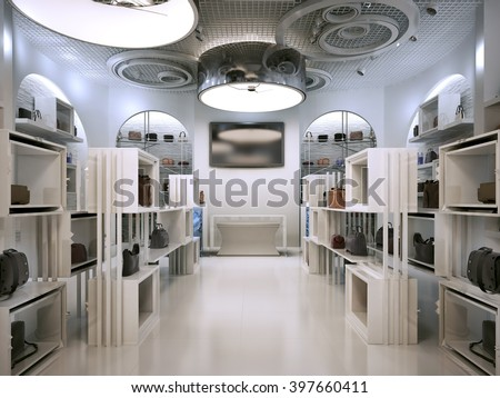 luxury store interior design art deco stock illustration. Black Bedroom Furniture Sets. Home Design Ideas