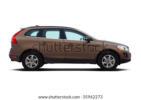 Luxury SUV isolated on white background - stock photo