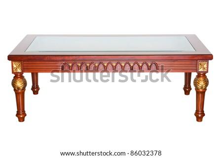 luxury table isolated on white - stock photo