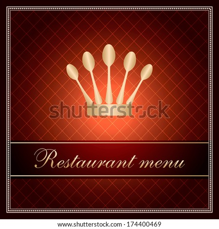 luxury template for a restaurant menu - stock photo