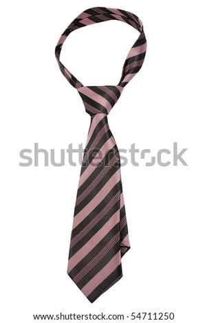 Luxury tie on white background - stock photo
