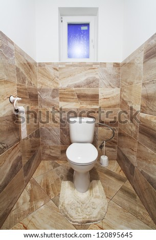 Luxury toilet - stock photo