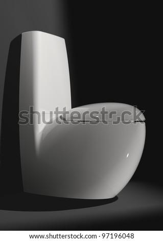 Luxury toilet in the bathroom - stock photo