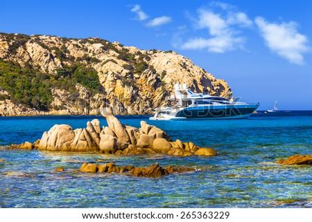 luxury vacation on Sardegna island. Italy - stock photo